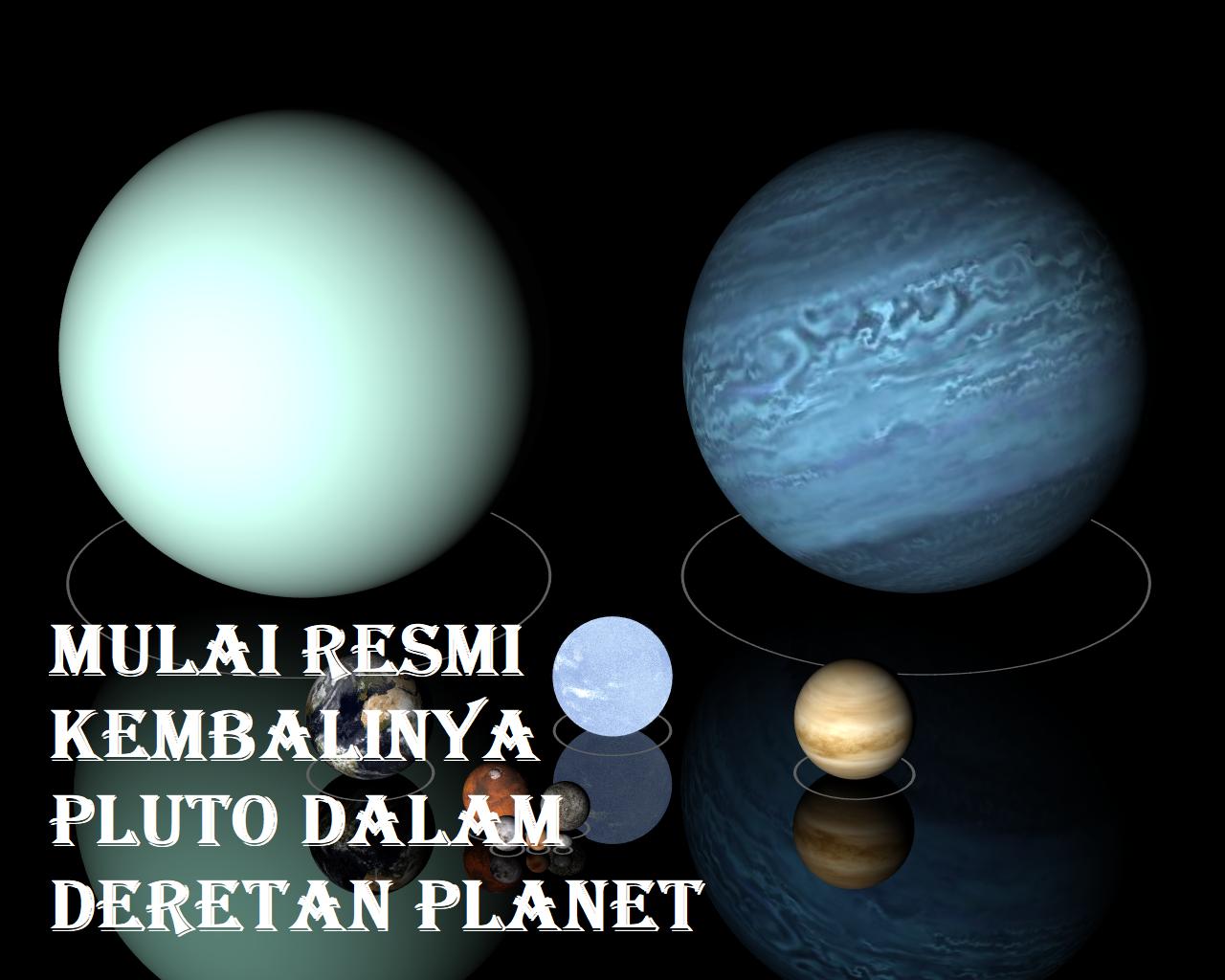 Mulai Resmi Kembalinya Pluto Dalam Deretan Planet